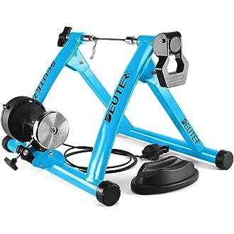 Magnétique Indoor Bicycle Trainer 5 Niveau de Résistance Exercice Vélo Support Noir