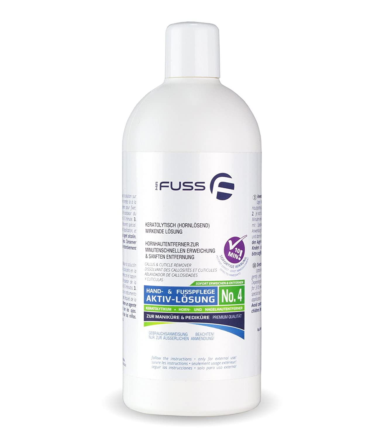 Mr. Fuss - Levacalli, soluzione attiva n° 4, 500 ml MF1036