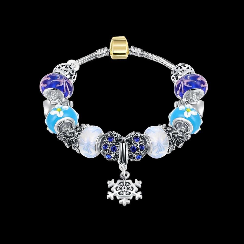 KMK88 Glass Magnet Charm Bracelet /& Bangle DIY Beads Cable-w