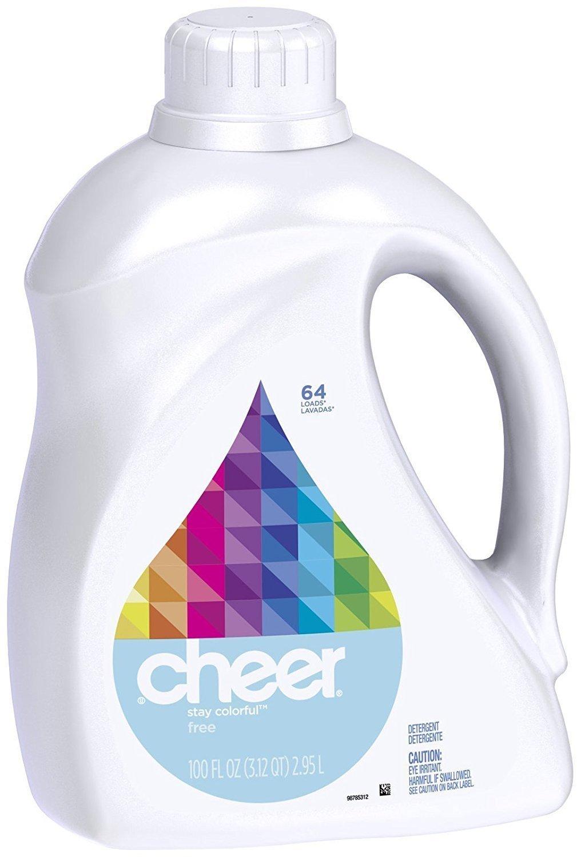 Cheer Liquid Detergent - 100 oz - Free & Gentle - 2 pk