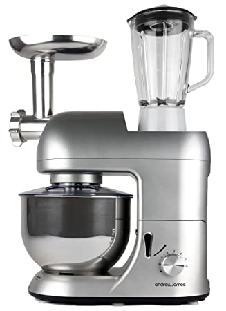 andrew james multifunctional silver 5 2l food mixer with meat grinder and 1 5 litre blender attachments andrew james multifunctional silver 5 2l food mixer with meat      rh   amazon co uk