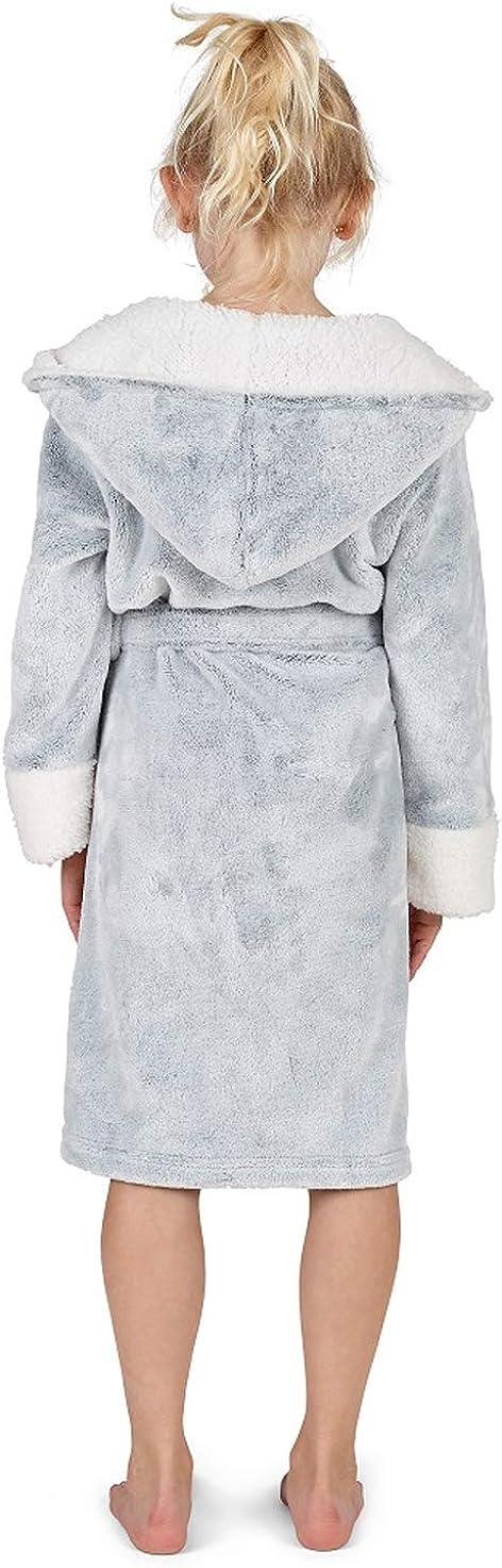 Polar Fleece Material Bademantel M/ädchen mit Taschen und Kapuze Einhorn Morgenmantel Kleine Geschenke Stilvolle Designs Pink Robe CityComfort Bademantel Kinder