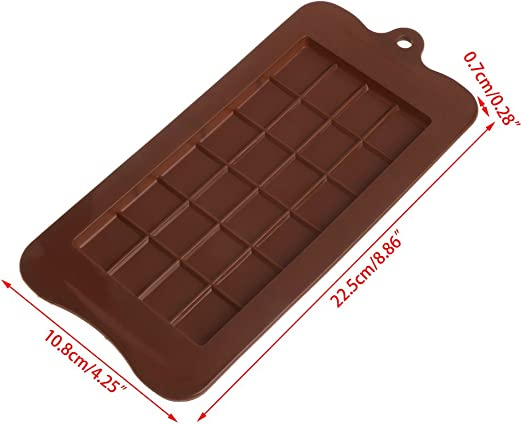 24 Cavity Rectangle Silicone Mold Soap Mould Cake Mold For Chocolate Candy Mold