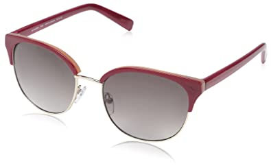 e450b1658ae Image Unavailable. Image not available for. Color  SOCIETY NEW YORK Women s  Modern Clubmaster Sunglasses ...