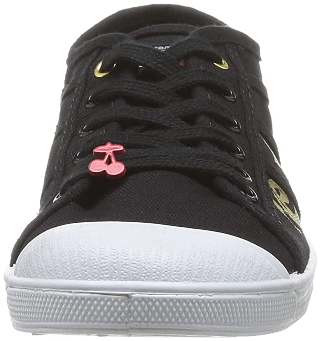Le Temps DES Cerises Basic 02 - Zapatillas para Mujer, Color Black (Painting Black/Gold), Talla 37 Le Temps Des Cerises