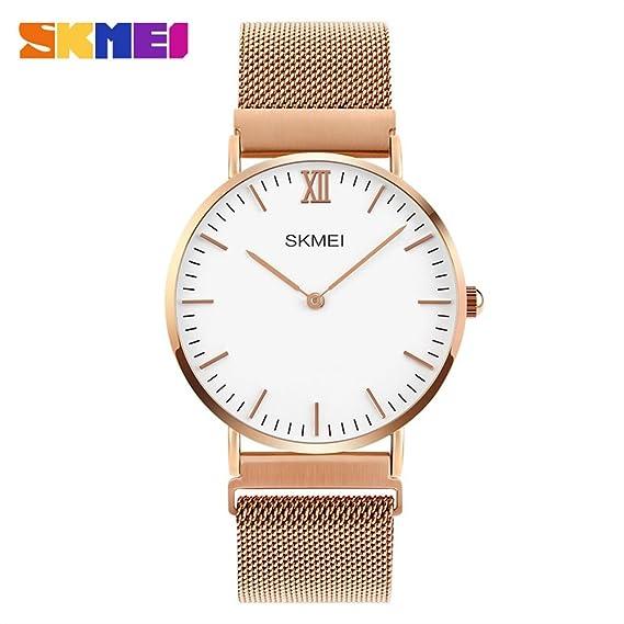 MOZISEN Relojes Deportivos,Reloj de Moda SKMEI Amazon Fashion Couple Table Reloj de Hebilla magnética