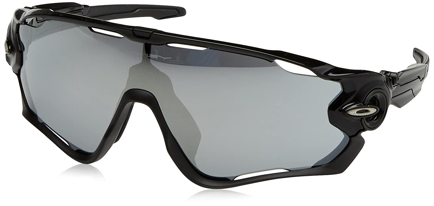 5de9c750baf Amazon.com  Oakley Men s Jawbreaker Sunglasses Black Chrome  Clothing