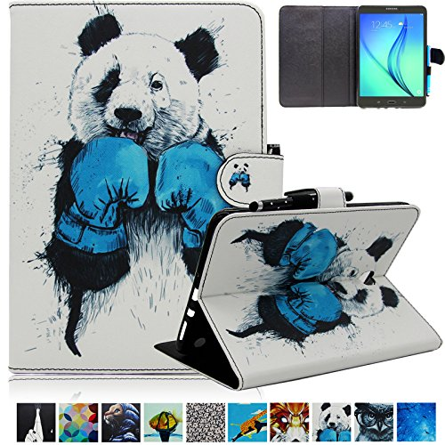 Galaxy Tab A 8.0 Folio Case-UUcovers Slim Fit Premium Leather Cover Money/Card Slots for Samsung Tab A 8.0-Inch Tablet SM-T350 (Panda)