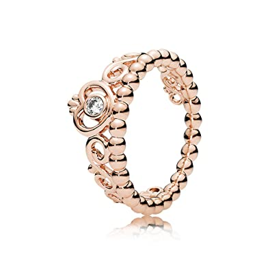 256b0d1fb Amazon.com: PANDORA My Princess Tiara Ring, PANDORA Rose, Clear Cubic  Zirconia, Size 6: Jewelry