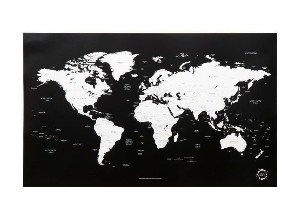 Amazon black and white world map unique design poster print amazon black and white world map unique design poster print traveler office products gumiabroncs