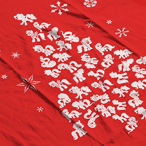 Christmas Pony Red Men's Jacket Silhouette white My Tree Varsity Little UqxEnwHHa8