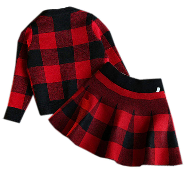2-6 Years SANGTREE Little Girls Cardigan /& Skirt Set