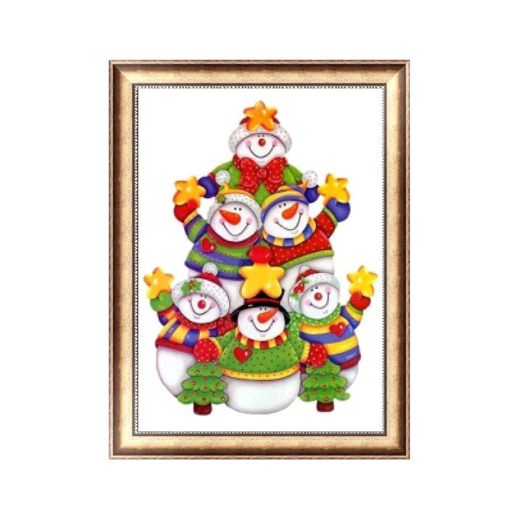 cici store 5D フルダイヤモンドクロスステッチ 樹脂とラインストーン 絵画 - クリスマス 雪だるま 3# DIY ハンドメイド 刺繍 ペインティング セット クリスマスデコレーション B07H4BS851