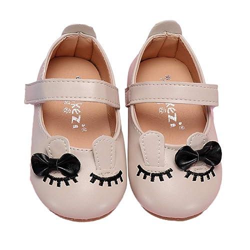Miyanuby Zapatos para Bebe Niña   Patrón de Gato Lindo Suela de Goma Antideslizante Mocasines Niña 6 Meses - 4 Años: Amazon.es: Zapatos y complementos