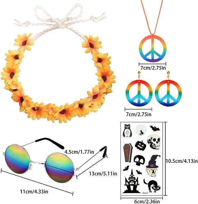 Hippie Accesorios, Pendientes de Collar de Signo de la paz Diadema ...