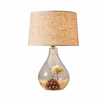 Verre Transparent Personnalite Creatrice Lampe Lampe De Chevet
