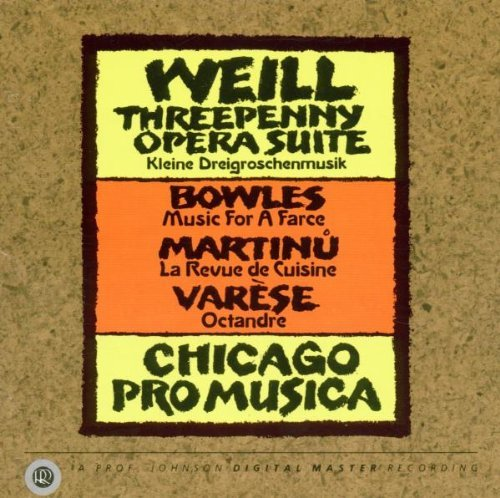 Threepenny Opera/Revue de Crusine [IMPORT] By Kurt Weill (Composer) (1993-12-17)