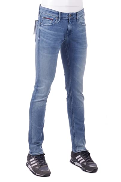 c99da7dc82a Tommy Hilfiger Jeans Uomo Slim Scanton Dogwood Light Blue Stretch   Amazon.it  Abbigliamento