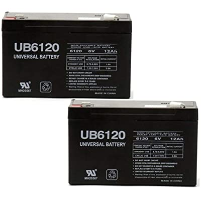 Universal Power Group UB6120 6V 12Ah LITHONIA Emergency Exit Light Battery - 2 Pack : Sports & Outdoors