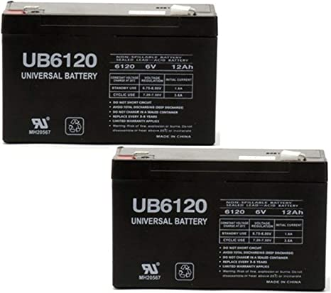 6V, 12Ah, 12000mAh, F1 Terminal, AGM, SLA Tripp-Lite SMART500RT1U Battery Replacement UB6120 Universal Sealed Lead Acid Battery - Includes Two F1 to F2 Terminal Adapters