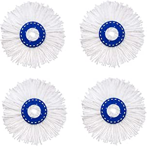 Replacement Microfiber Absorbent Mop Head Refill for Magic Hurricane Spin Mop (4)