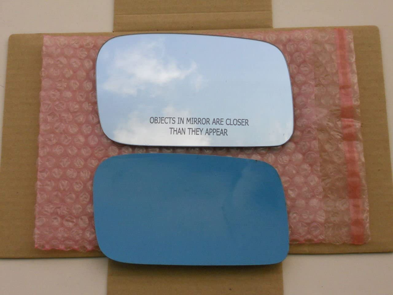 New Replacement BLUE Mirror Glass with FULL SIZE ADHESIVE for 2009-2012 Acura TL Passenger Side View Right RH