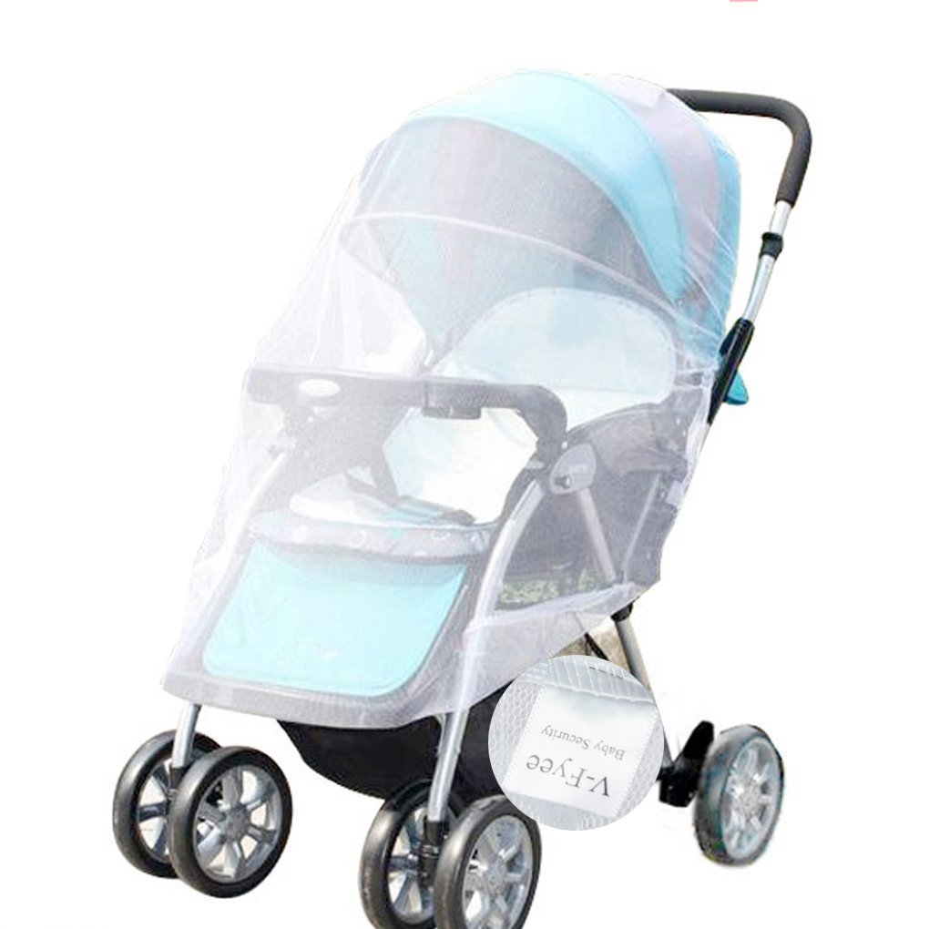Mosquito Net, V-FYee Bug Net for Baby Strollers Infant Carriers Car Seats Cradles, White VFyee XE-351