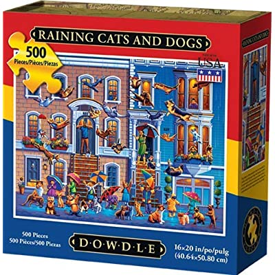 Dowdle Jigsaw Puzzle - Raining Cats and Dogs - 500 Piece: Toys & Games