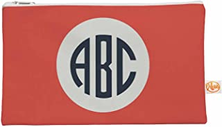 kess internes 12,5x 12,5x 21,5cm original'Classique Rouge Cercle monogramme' Tout ce sac