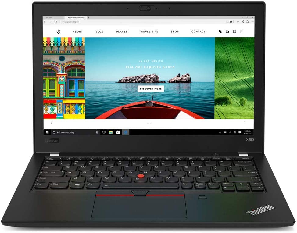 """Lenovo ThinkPad X280 Business Touchscreen Laptop, 12.5"""" FHD IPS, Core-i5 up to 3.60 GHz, 8GB RAM, 256GB SSD, Thunderbolt 3/USB-C, HDMI, Webcam, Backlit KB, FP Reader, Win 10 Pro"""