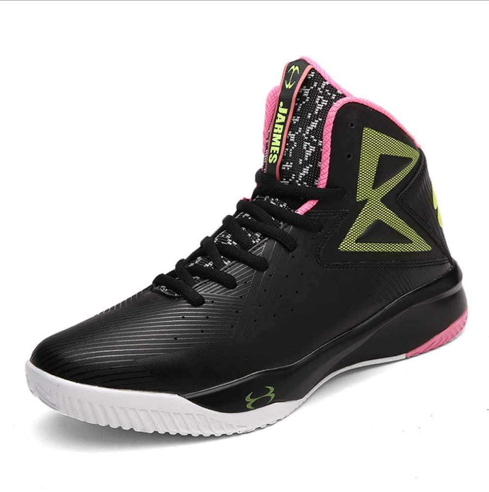 HYLFF Les Hommes Baskets imperméables en Plein air Chaussures de de Chaussures Basket-Ball de Haute Altitude Chaussures Casual légères 45EU|Black 56c6ec