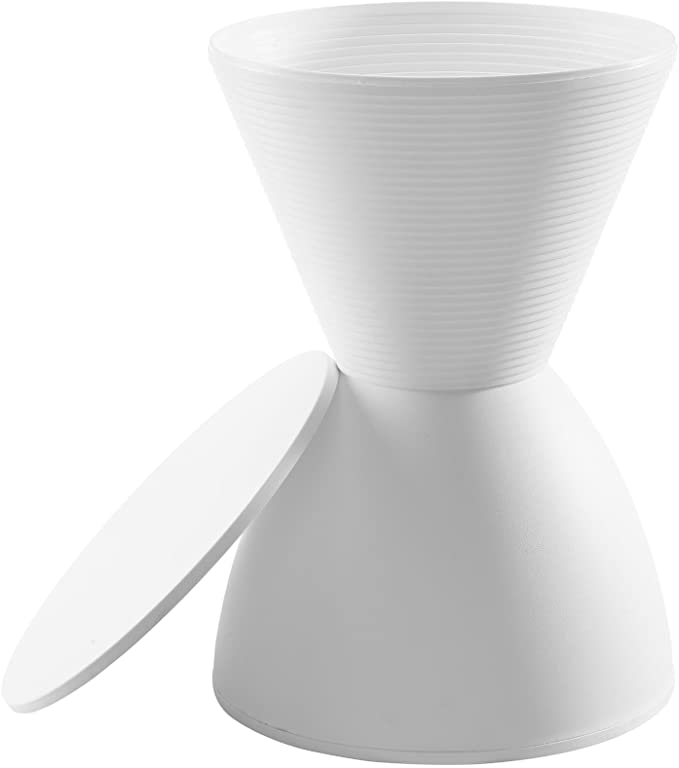 Modway Haste Contemporary Modern Hourglass Accent Stool In White Furniture Decor