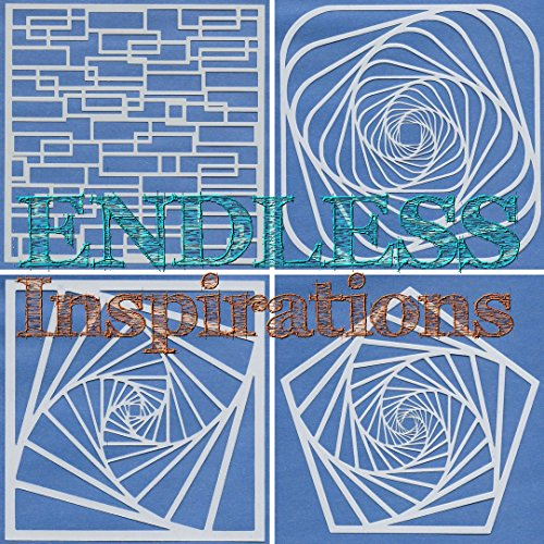 Endless Inspirations Original Stencils, 6x6 Inch, All The Stairs Bundle 1, 4 Pack - Spiral Staircase 1 & 2, Rounded Staircase & Broken Stairs