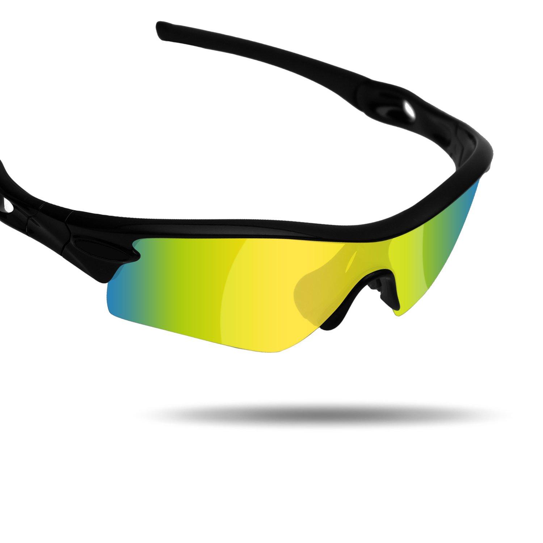 94b7ffbaf5 Amazon.com  Fiskr Anti-Saltwater Replacement Lenses for Oakley Radar Path  Sunglasses - Various Colors  Clothing