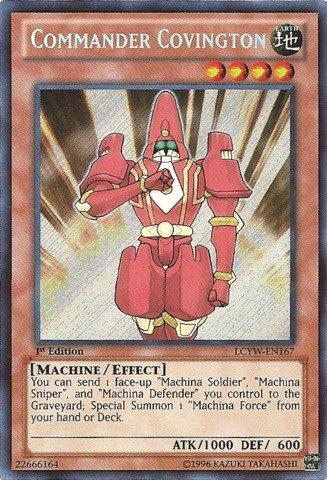 Yu-Gi-Oh! - Commander Covington (LCYW-EN167) - Legendary Collection 3: Yugi's World - 1st Edition - Secret (Covington Collection)