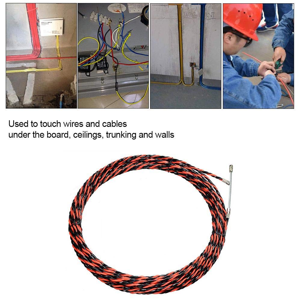Miju Enhebrador de Alambre 5// 30M Cable de enhebrador de Cable Dispositivo de enhebrado Tirador Cable el/éctrico de Fibra de Vidrio a trav/és de Herramienta de Cable de Pared con 2 Tensor Nice-Looking