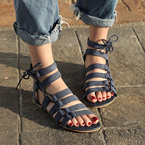 Römischen Schuhe Flache Hausschuhe Peep Einfarbige Party Hausschuhe﹛Gladiator Damen﹛Große Outdoor Schwarz TPulling Toe﹜Plattform Riemen﹜Sandalen Sommer Wildleder Sandalen EqwSBHg