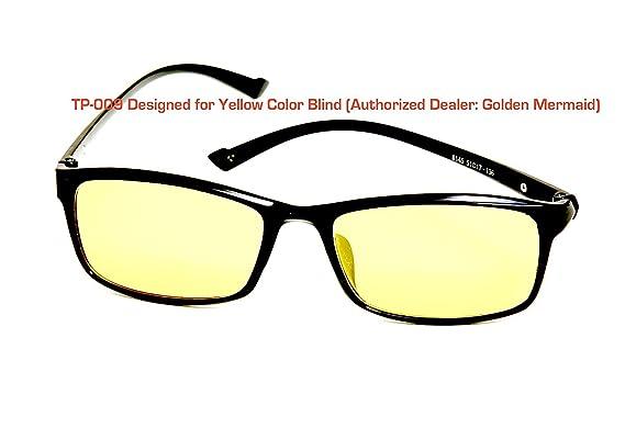 3b1457ff3694 TP-009 Yellow Color Blind Glasses (Tritanomaly   Tritanopia)  Amazon.co.uk   Clothing