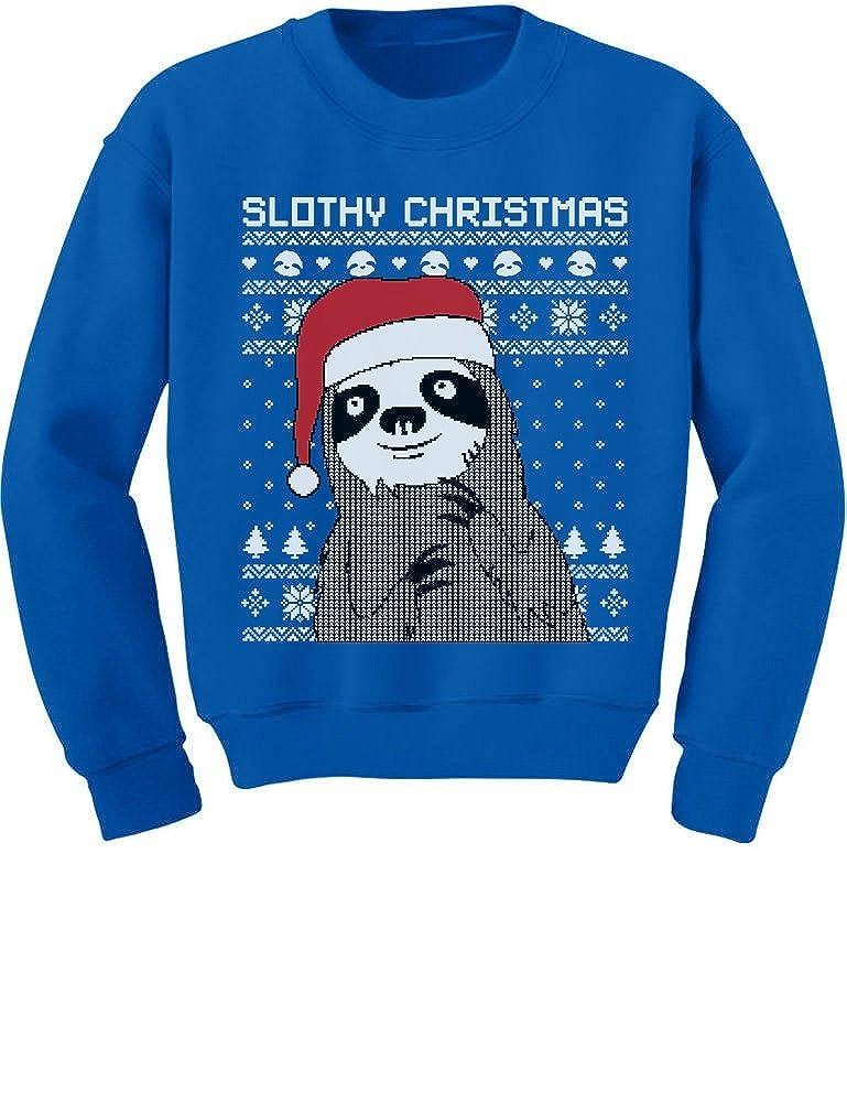 Tstars Slothy Christmas Ugly Christmas Sweater Cute Sloth Toddler//Kids Sweatshirts