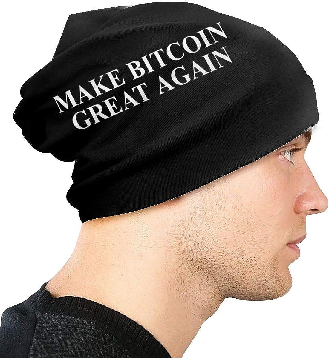 JINGUImao Make Bitcoin Great Again Unisex Warm Hat Knit Hat Skull Cap Beanies Cap