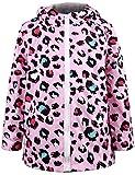 #10: Ephex Little Kid Waterproof Leopard Print Coat Jacket Raincoat with Hooded 2-11Y