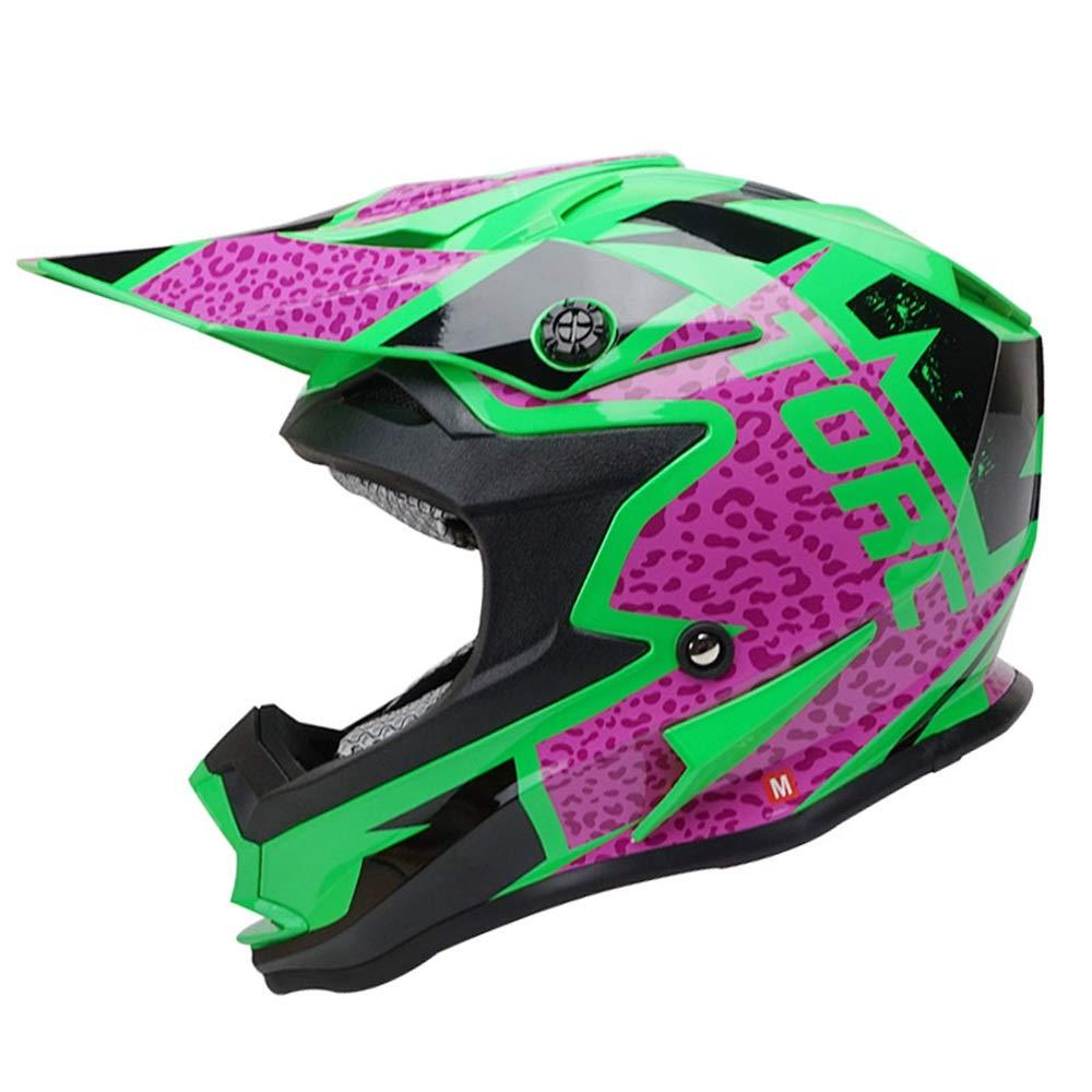 HYH モトクロスヘルメットロードラリーヘルメットアウトドアレーシングヘルメットマウンテンバイクヘルメットブラック/レッド いい人生 (Size : M) Medium  B07S2HGX3M