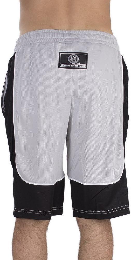 NHL Los Angeles Kings Fridar Poly Mesh Grey//Black Majestic Shorts
