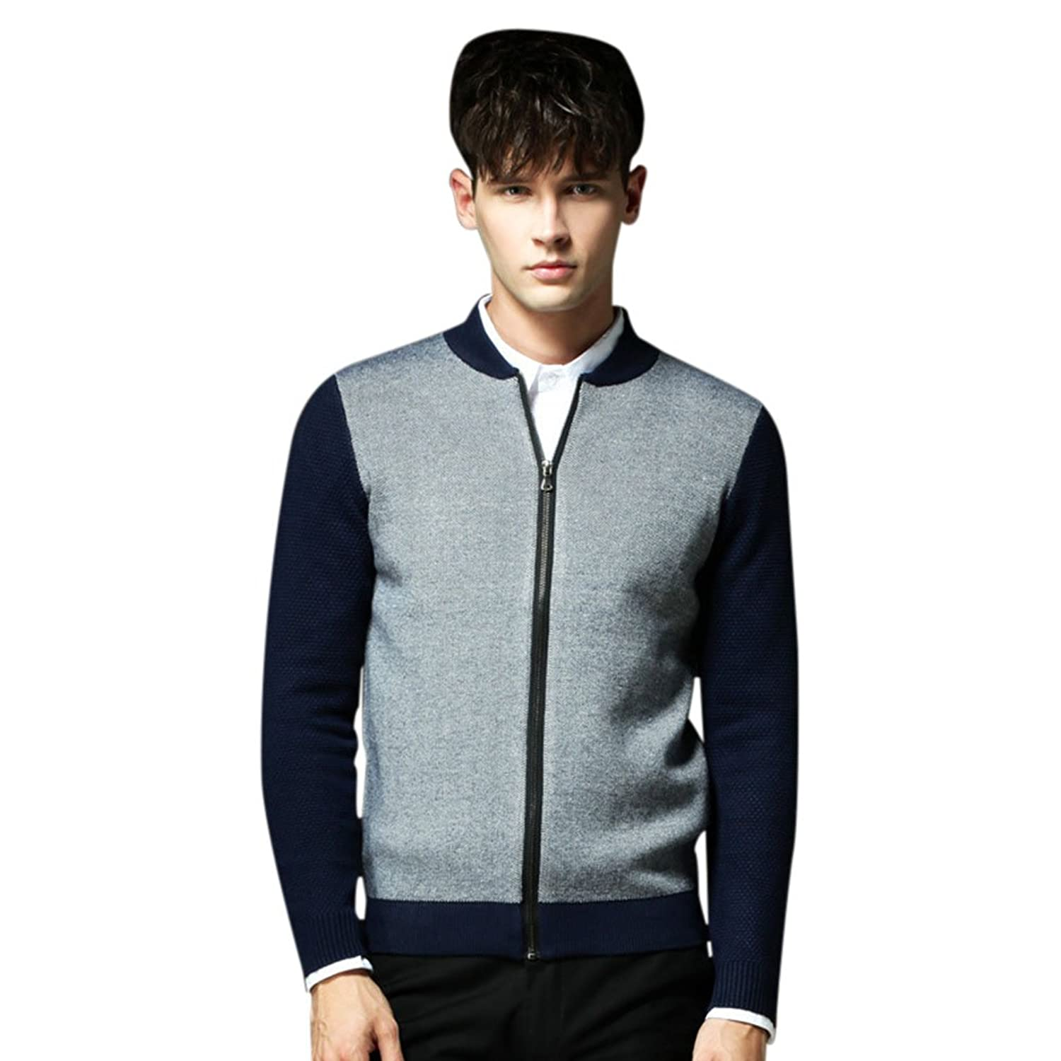Molly Mens Casual Slim Fit Knitted Long Sleeve Cardigan Coat