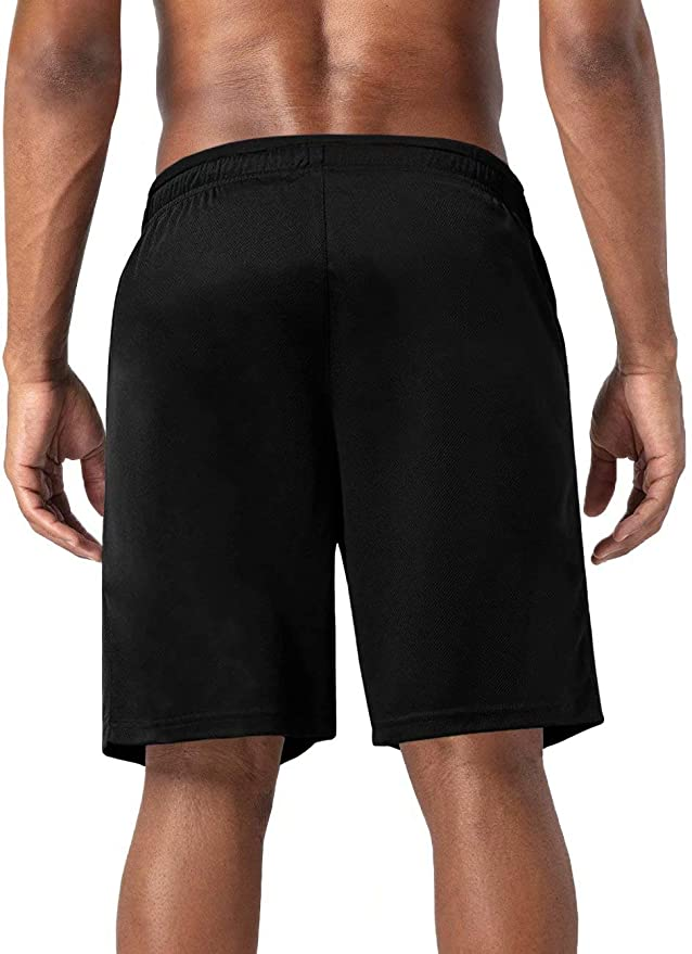 BIYLACLESEN Mens Quick Dry Breathable Gym Running Shorts with Zipper Pockets
