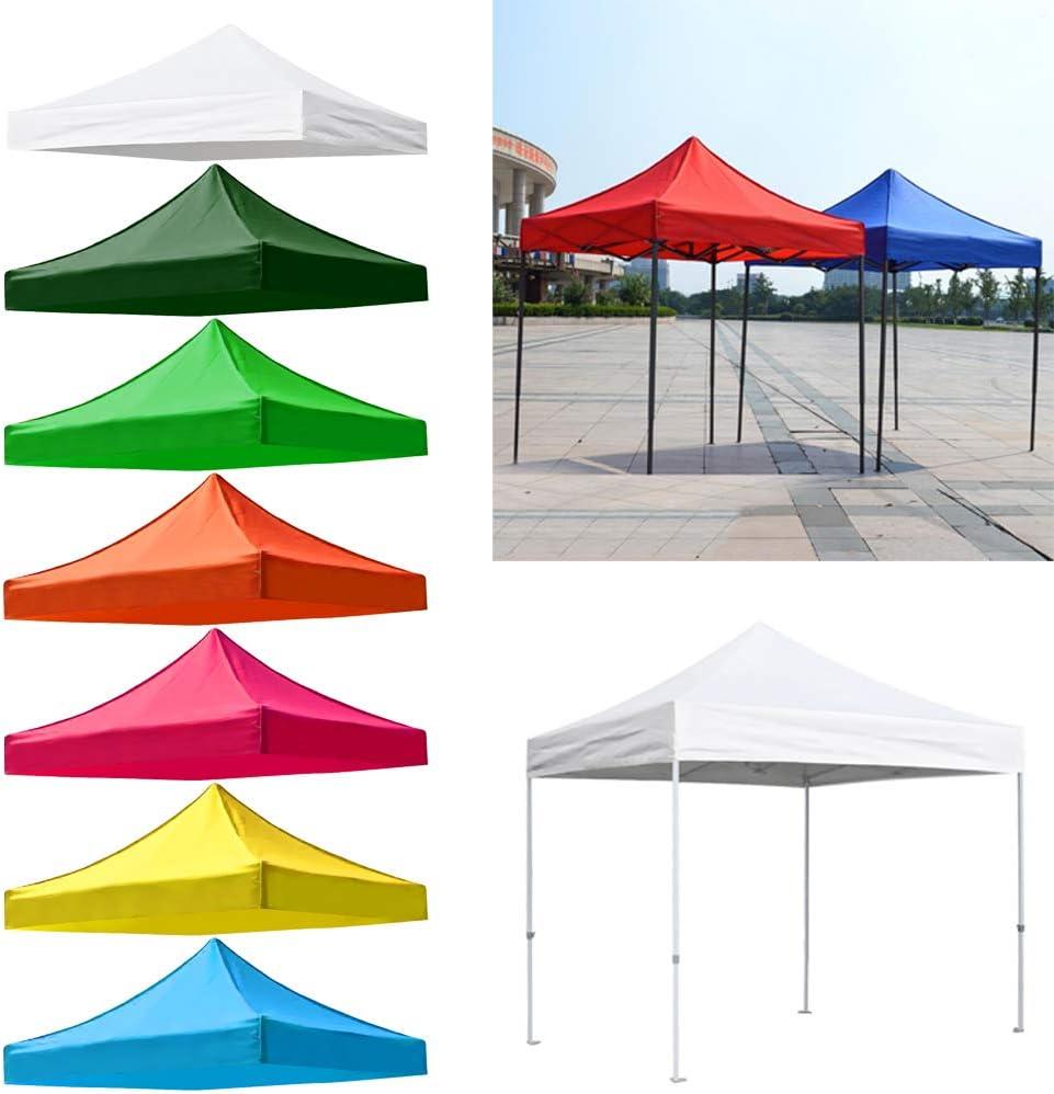 CUTICATE Waterdichte Oxford Vervangende Tent Top Cover Camping Strand Zonnebestendig Tarp Paraplu Cover Luifel Luifel Gazebo Zonnekap Kleur: wit