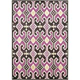 Safavieh Paradise Collection PAR152-380 Fuchsia and Purple Viscose Area Rug (5'3″ x 7'6″) Review