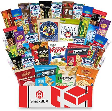 Healthy Snacks Care Package Snack Box (40 Count) for College Students, Exams, Finals, Father's Day, Gift Basket, Gift Ideas, Get well, Military, Deployment, with Chips, Cookies, Granola Bars and Nuts