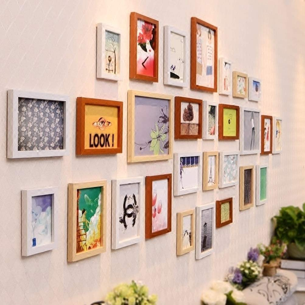 YOTINO Lot de 100 Crochets en M/étal pour Cadre Photo Crochets /à Suspendre avec Vis pour Toile Horloge ou Miroir