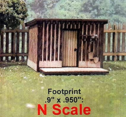 Osborn Models N Scale TOOL SHED WITH TOOLS EZ Assembly Kit New RRA3115